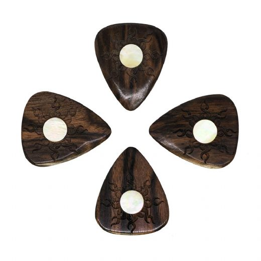 Sun Tones Macassar Ebony 4 Guitar Picks